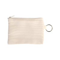 Coin Purse with key-ring Canvas Look