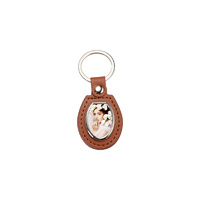 PU Key Chains Brown